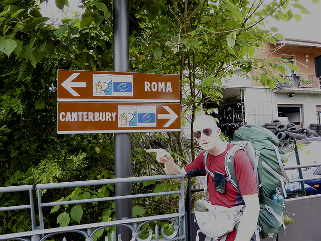 The river crossing at Fornovo Di Taro, makes us sure we are going the correct way!