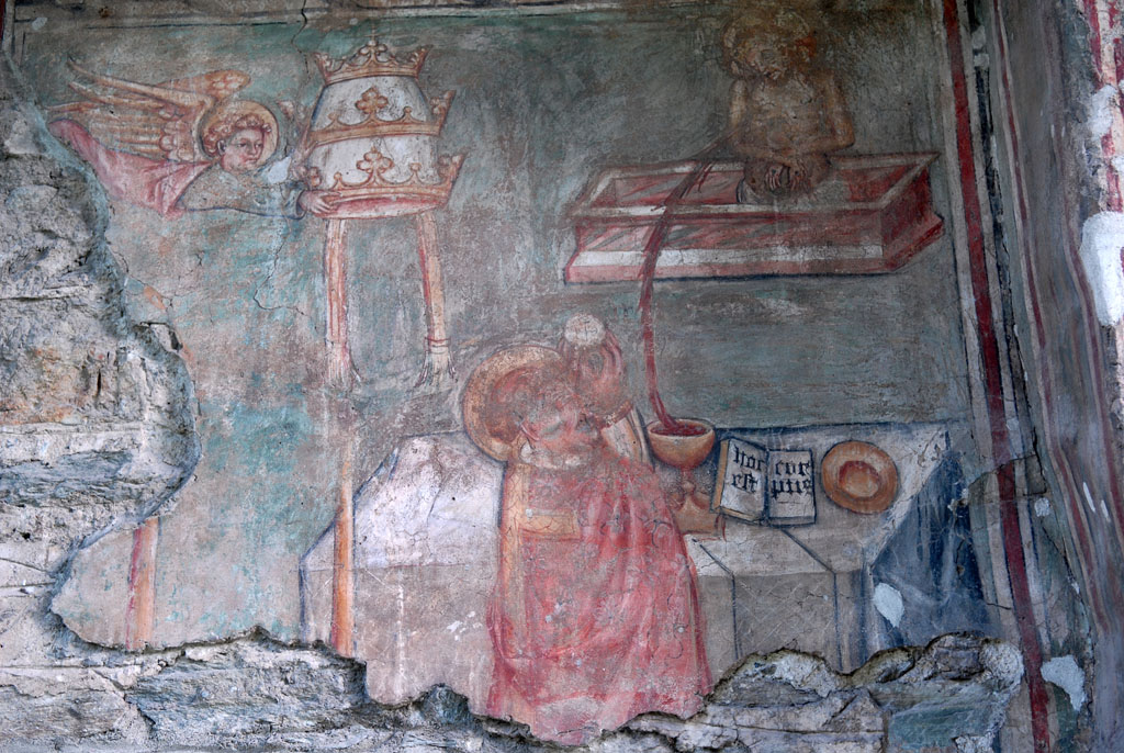 Fresco in the Arnad church
