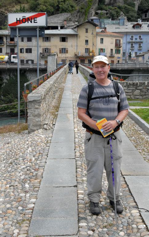 Pilgrim walking in Hone by Bard