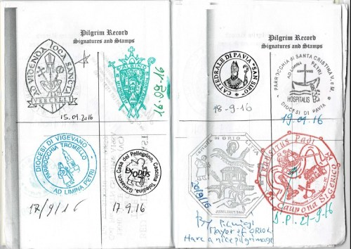 Booklet Credential with stamps