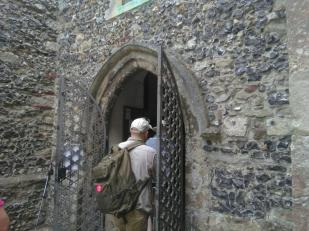 Going into St Martin's Canterbury
