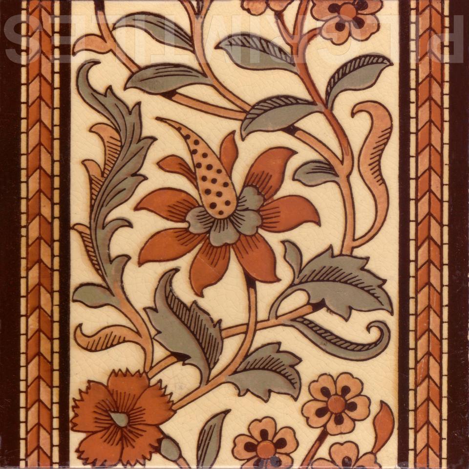 Arts Craft Tile 002 Pilgrim Tiles