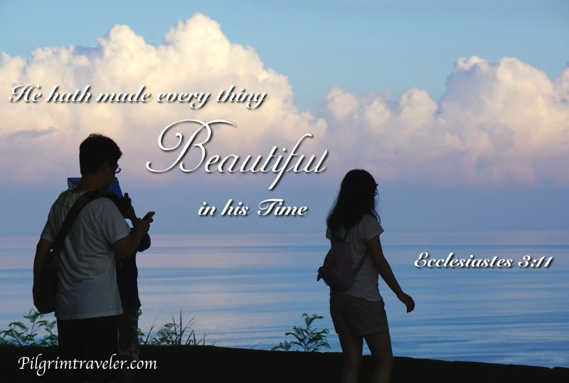 "Ecclesiastes 3:11 ""He hath made every thing beautiful in his time."""