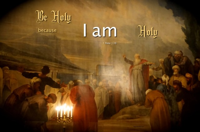 """1 Peter 1:16 For it is written: """"Be Holy because I am Holy."""""""