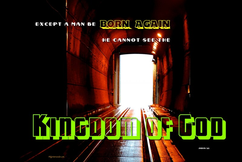 "John 3:3 ""Except a man be born again, he cannot see the kingdom of God."""