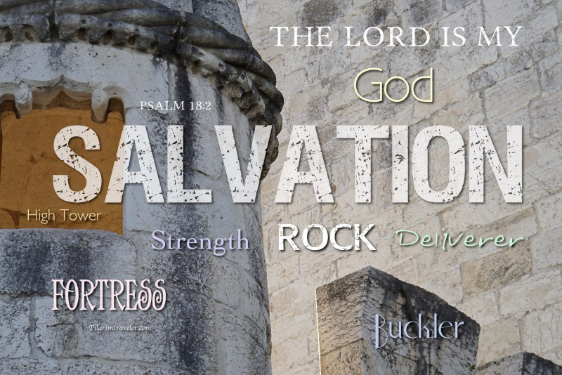 """Psalm 18:2 """"The Lord is my rock, and my fortress, and my deliverer; my God, my strength, in whom I will trust; my buckler, and the horn of my salvation, and my high tower."""""""