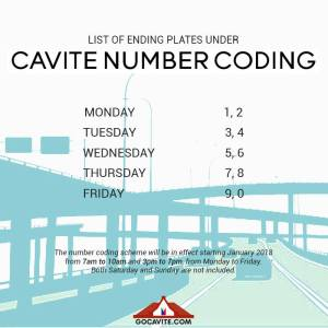 Cavite Number Coding