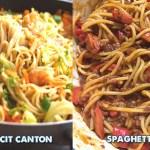 Pinoy Pancit Canton and Spaghetti