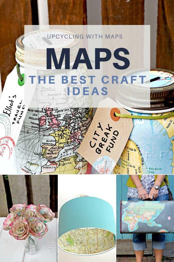 How To Craft A Map : craft, Upcycles, Crafts, Pillarboxblue, Pillar