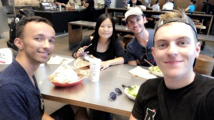 De gauche à droite : Hedi, June, Jonathan et moi !