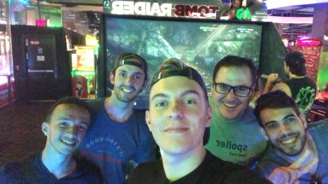 De gauche à droite : Hedi, Jonathan, moi-même, Rui et Vitor