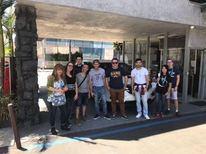 Une photo de groupe, juste avant notre départ pour l'E3 !