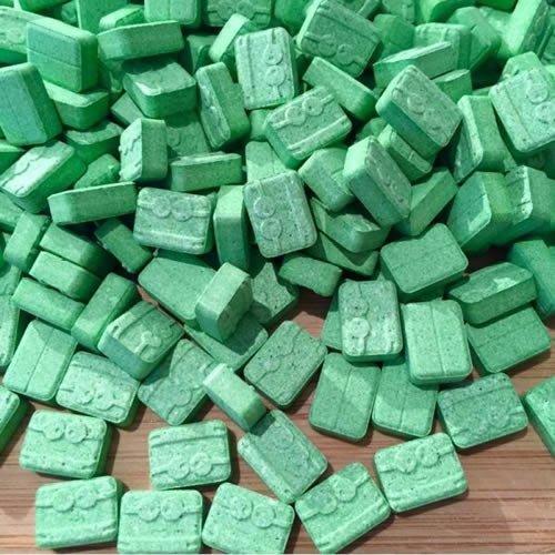 100-Pills-Green-Minion-XTC-MDMA-200mg-Pills-Super-Solid-Press