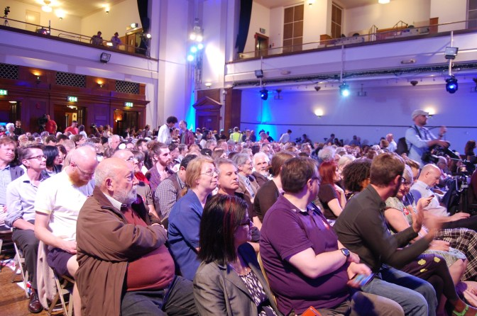 The main room quickly fills up