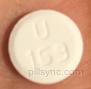 ROUND WHITE U 169 - tizanidine tablet Pill Images