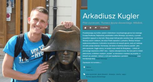 Arkadiusz Kugler PILOT WYCIECZEK