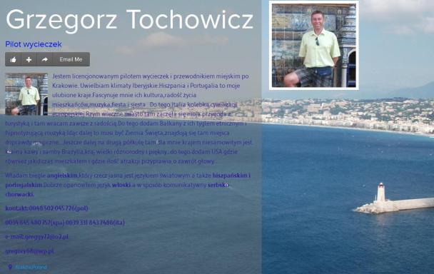 Grzegorz Tochowicz PILOT WYCIECZEK