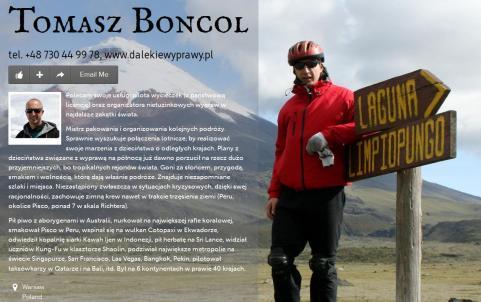 Tomasz Boncol - PILOT WYCIECZEK