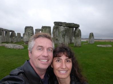 Todd and Oana at Stonehenge