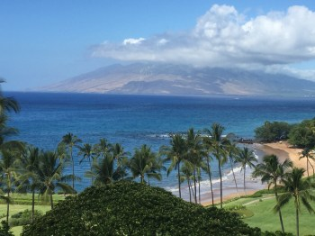 View from our hotel room in Maui