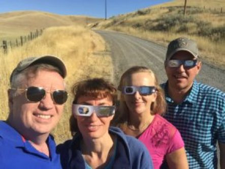 Eclipse watchers - Weiser Idaho