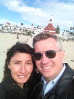 Todd and Oana in Coronado