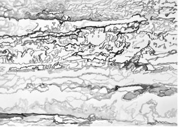 AO 5 (series: 3 Sekunden Atlantischer Ozean)   2015   Ink on paper   42 x 59,5 cm
