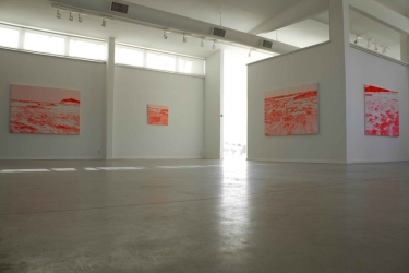 Ensayos en rojo neón | 2011 | Installation view at Fundacion Pablo Atchugarry , Maldonado, Uruguay