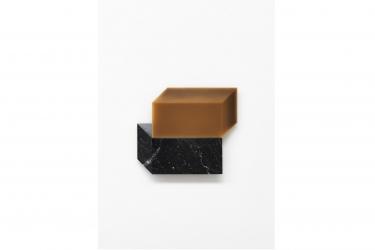 2016 MW11 | marquina marble, beeswax | 59 x 43 x 3 cm | Photo © Stefano Tonicello
