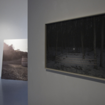 Right: Betty Böhm, Ring 1, 2017, Hahnemühle Fine Art Print in artist's frame, 60×100 cm
