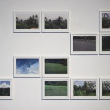 Selket Chlupka: Beyond Violet #01 - #11, 2016, Collage series, Laser prints in artist's frame, 21×29,7 cm, each