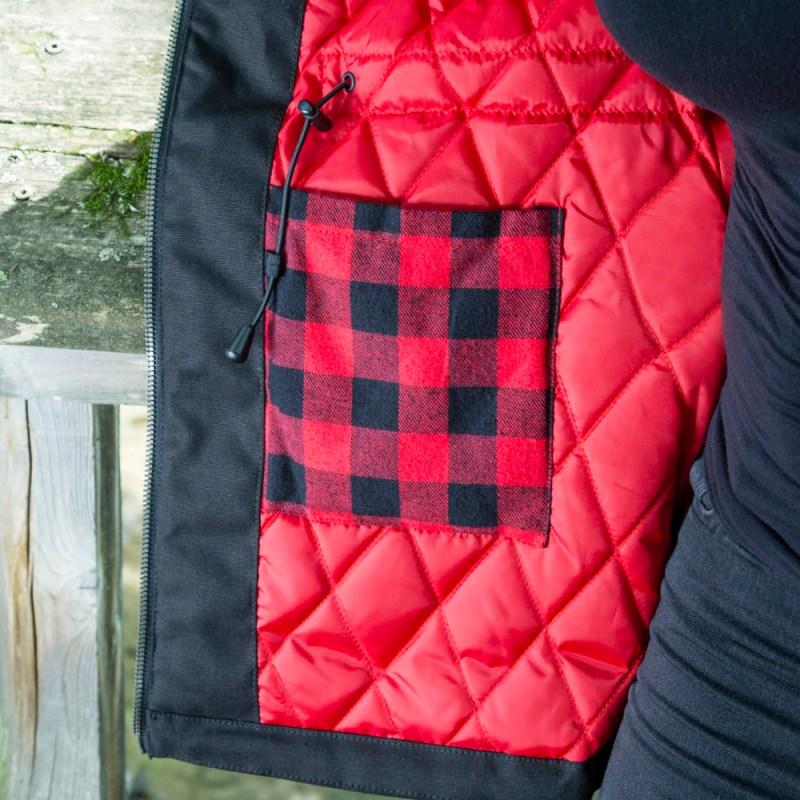 Manteau doublé en canevas extensible pour femme | Pilote et filles