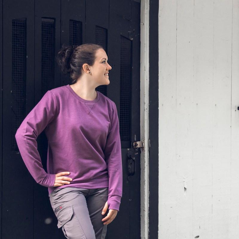 Chandail coton-ouaté à col rond pour femme | Pilote et filles
