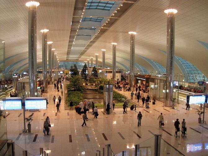аэропорт Дубай внутри