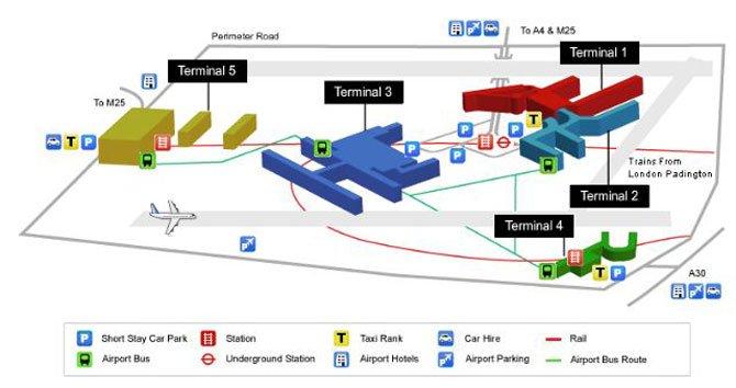 Аэропорт Хитроу схема