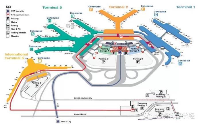 Аэропорт О'Хара схема