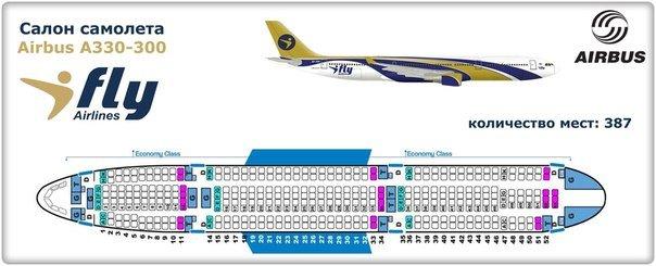 Ай Флай схема Аэробус А330