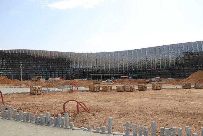 Фасад нового терминала аэропорта