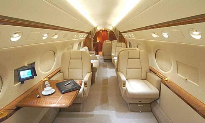 Gulfstream G550 inside