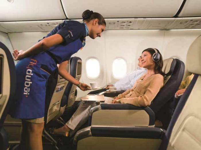 Сервис на борту самолета Fly Dubai