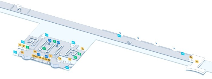 Схема аэропорта терминал D-1