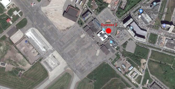 Аэропорт Пулково 2 карта