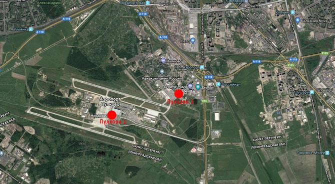 Аэропорт Пулково карта