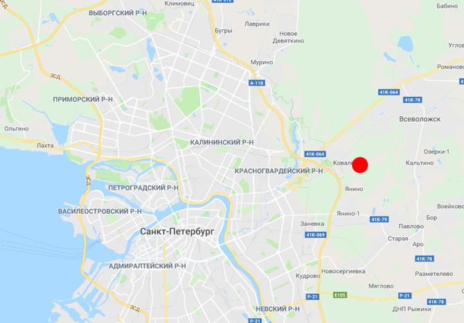 Аэропорт Ржевка карта