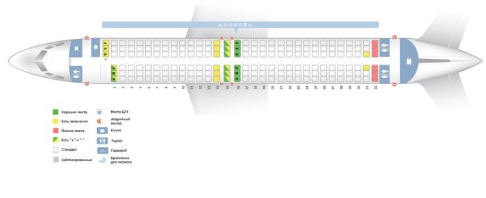 Боинг 737-800 схема салона