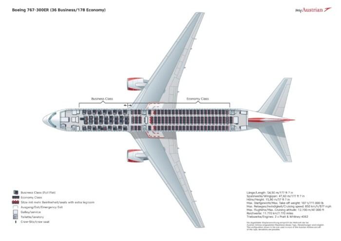 Боинг-767-300ER схема салона