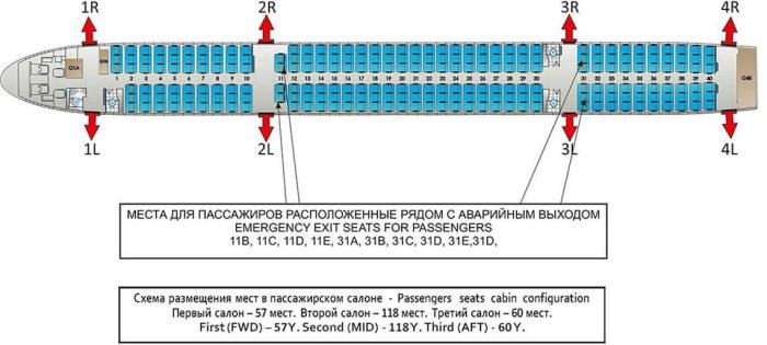 Схема салона Ай Флай Boeing B757-2Y0