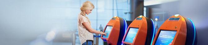 регистрация в аэропорту киоски