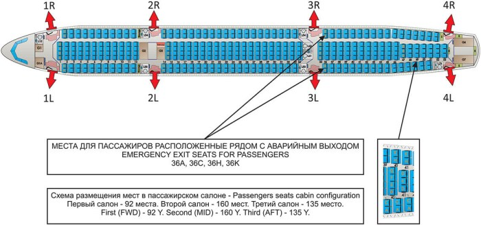Схема салона Ай Флай Airbus A330-300 EI-FBU