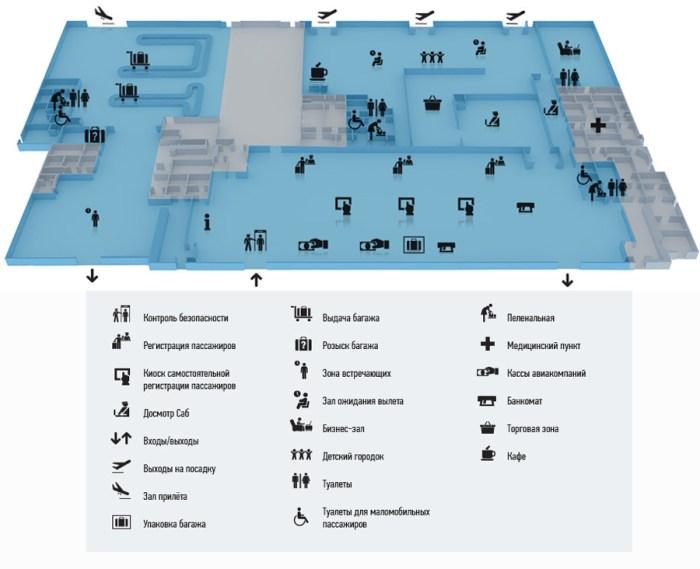 Схема аэропорта 1 й этаж